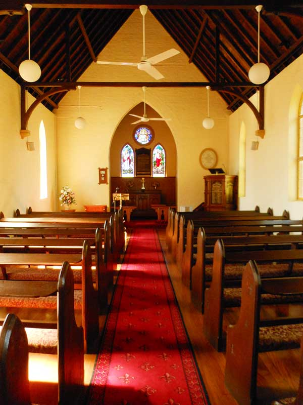 Inside St Stephen's Anglican Church Kurrajong